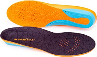 Superfeet FLEX, Comfort Insoles for Athletic Shoe Cushion and Support, Unisex, Flame