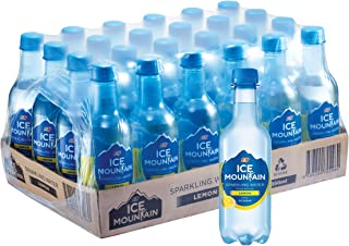 Ice Mountain Sparkling Water, Lemon Flavour, 350ml, (Pack of 24)