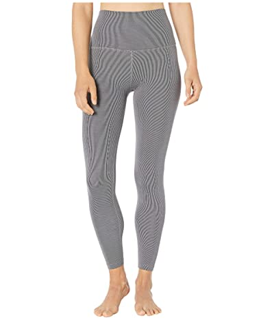 Beyond Yoga Heather Rib High Waisted Midi Leggings (Gray Heather) Women