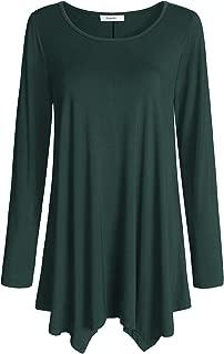 Women's Long Sleeves Tunic Top for Leggings Flared Shirt
