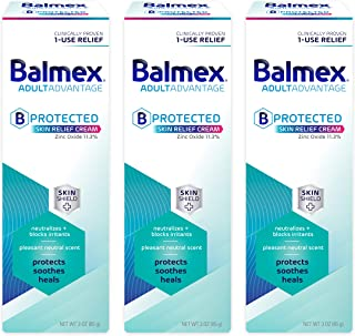 Balmex AdultAdvantage BProtected Skin Relief Cream, with SkinShield Technology to Protect, Soothe and Heal Sensitive Skin,...
