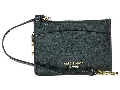 Kate Spade New York Sylvia Card Holder Wristlet (Deep Evergreen Metallic) Wristlet Handbags