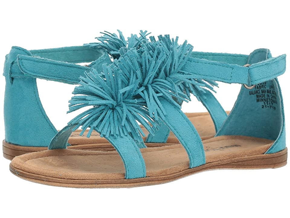 Minnetonka Kids Eloise (Toddler/Little Kid/Big Kid) (Turquoise Microsuede) Girl