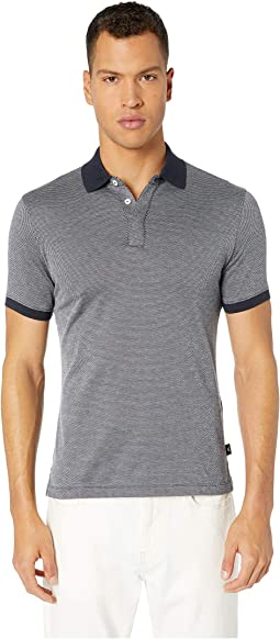 Neat Cotton Jacquard Polo