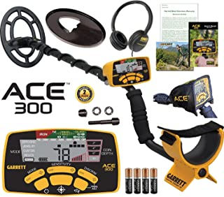 Garrett ACE 300 Metal Detector with Waterproof Coil and Headphone Plus Free Accessories