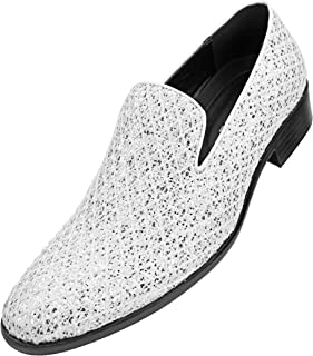 b97621301561a Bolano Mens Metallic Sparkling Lattice Glitter Tuxedo Slip On Smoking  Slipper Dress Shoe