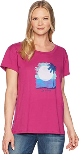 Sunset In Paradise Breezy Tee