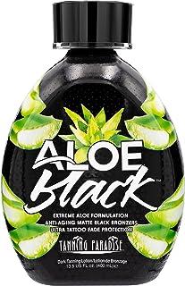 Tanning Paradise Aloe Black Tanning Lotion | Anti-Aging, Anti-Orange, Anti-Wrinkle Matte Black Bronzer Tanning Lotion | Ta...