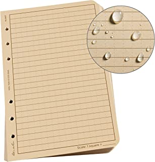 "Rite in the Rain Weatherproof Loose Leaf Paper, 4.625"" x 7"", 32# Tan, Universal Pattern, 100 Sheet Pack (No. 982T)"