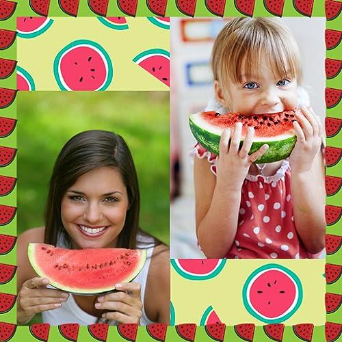 Colagem de fotos de melancia