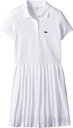 Lacoste Kids Short Sleeve Petit Pique Pleated Dress (Toddler/Little Kids/Big Kids)