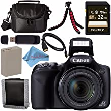 Canon PowerShot SX530 HS Digital Camera 9779B001 + NB-6L Lithium Ion Battery + Sony 32GB SDHC Card + Mini HDMI Cable + Small Case + Memory Card Wallet Bundle