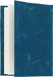 SIWA ブックカバー 文庫サイズ ブルー