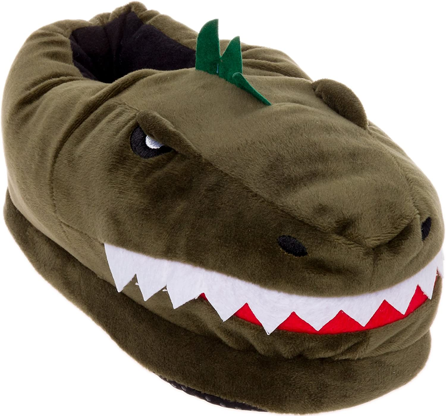 Silver Lilly Dinosaur Slippers - T-Rex Cushion w Plush OFFer Wholesale
