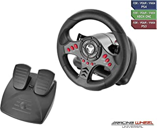 Subsonic SA5426 Racing Wheel Universal with Pedals for Playstation 4, PS4 Slim, PS4 Pro, Xbox One, Xbox One S, PS3