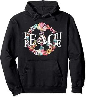 Hippie Teach Peace Flower Hoodie