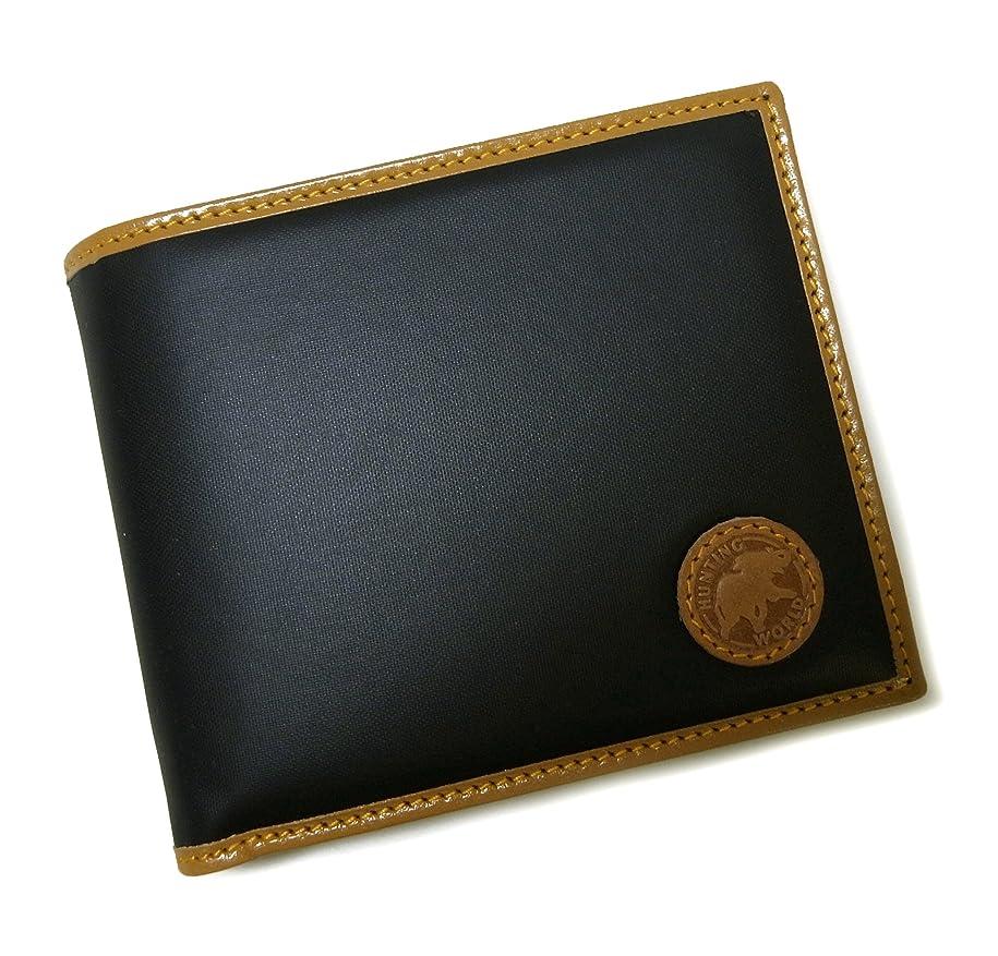 レルムハーネス回路[ハンティングワールド] 財布 バチュー BATTUE ORIGIN 二つ折 (ネイビー×ナチュラル) HW-480F [並行輸入品]