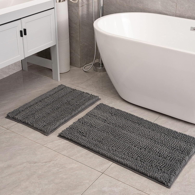 Feivea Bath Rugs Mats Set 2 Sli Luxury Piece Easy-to-use Chenille Non Max 87% OFF Carpet