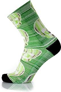 MB WEAR, Socks Fun Green Skull S/M, Unisex Adulto, Verde, Medio