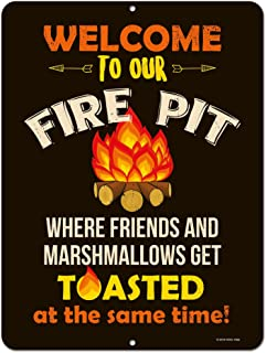 funny fire pit signs