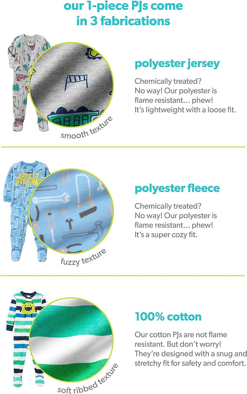 Simple Joys by Carters 3-Pack Loose Fit Flame Resistant Fleece Footed Pajamas B/éb/é gar/çon Lot de 3