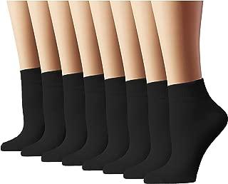Athletic Socks Women's Running Socks Quarter Cut,  Black,  Sock Size 10-13,  8 Pack