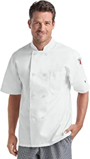 Men's Short Sleeve Chef Coat (S-2X, 2 Colors)