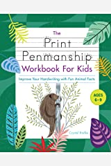 Print Penmanship Workbook for Kids: Improve Your Handwriting with Fun Animal Facts Kindle Edition