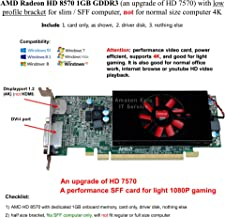 AMD Radeon HD 8570 1GB GDDR3 with Low Profile Bracket for Slim / SFF Computer, not for Normal Size Computer 4K