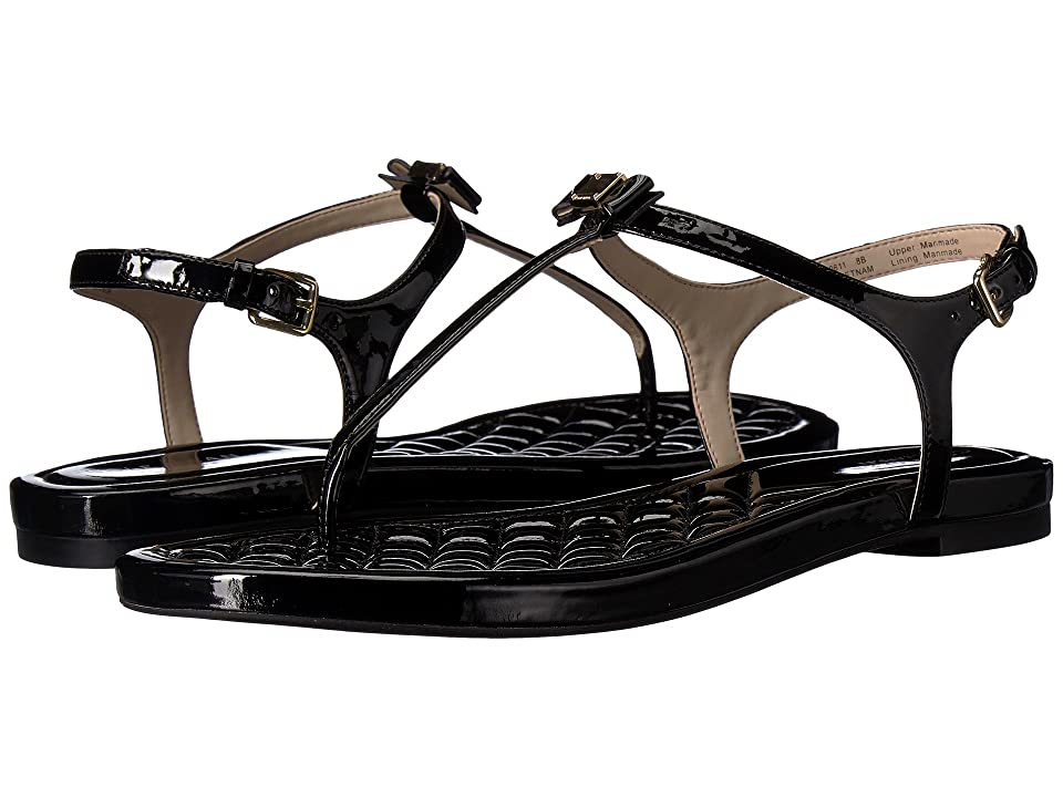 Cole Haan Tali Mini Bow Sandal (Black Patent) Women