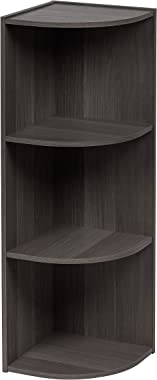IRIS USA, Inc. CX-3C 3-Tier Corner Curved Shelf Organizer, Gray