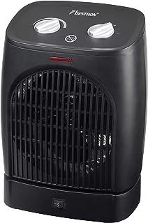 Bestron AFH218 Calefactor, Termostato, Función de Oscilación, Control de Temperatura, 1000 Vatios, 2000 W, Plástico, Negro