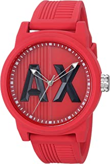 Armani Exchange Men's AX1453 Red Silicone Watch