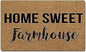 FZYTMY Funny Doormat Home Sweet Farmhouse Indoor Outdoor Entrance Floor Mat Home Front Door Mat Non Slip Backing 23.6 X 15.7 Inch
