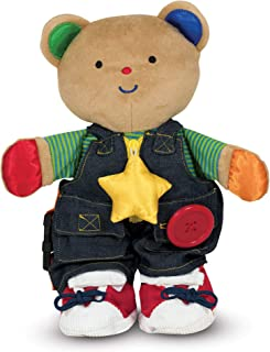 Melissa & Doug K's Kids - Teddy Wear Stuffed Bear Educational Toy, Great Gift for Girls and Boys – Best for Babies, 18 Month Olds, 24 Month Olds, 1 and 2 Year Olds