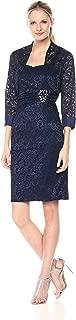 Jessica Howard Women's Lace Bolero Jacket Dress