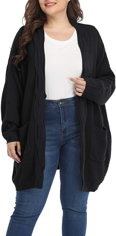 Shiaili Classic Plus Size Sweaters for Women Oversized Long Cardigans