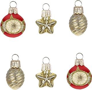 Hallmark Keepsake Christmas Ornaments 2019 Miniature Decorative Baubles Glass Set of 6, Mini Set