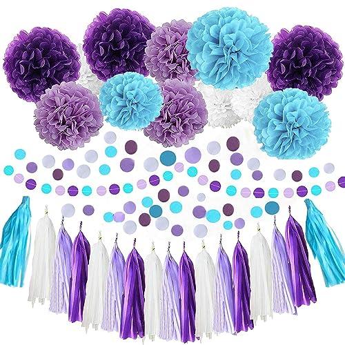 Purple And Turquoise Wedding Decorations Amazon Com