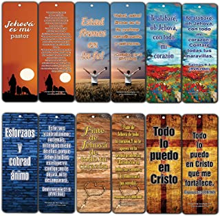 Spanish Popular Bible Verses Be Strong and Courageous Bookmarks (12-Pack)