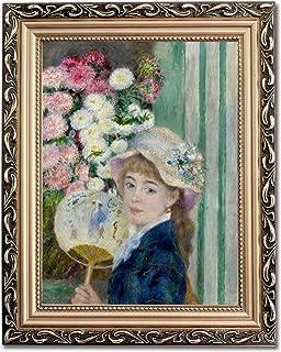 Ori Gallery Framed Canvas Print - Girl with a Fan - by Pierre Auguste Renoir