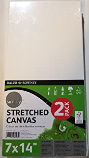 Daler-Rowney Simply Stretched Canvas Painting Surface, 2pk