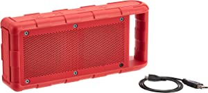Amazon Basics Portable Outdoor IPX5 Waterproof Bluetooth Speaker - Red, 15W