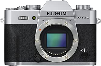 Fujifilm X-T20 Mirrorless Digital Camera, Silver (Body Only)