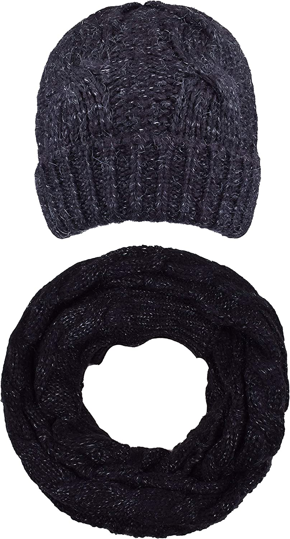 ORSKY Women's Infinity Scarf Beanie Hat Set Knit Winter Warm