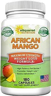 African Mango Extract Cleanse (180 Capsules) Plus Raspberry Ketones & Green Tea Complex, Irvingia Gabonensis Seed Fat Burn...