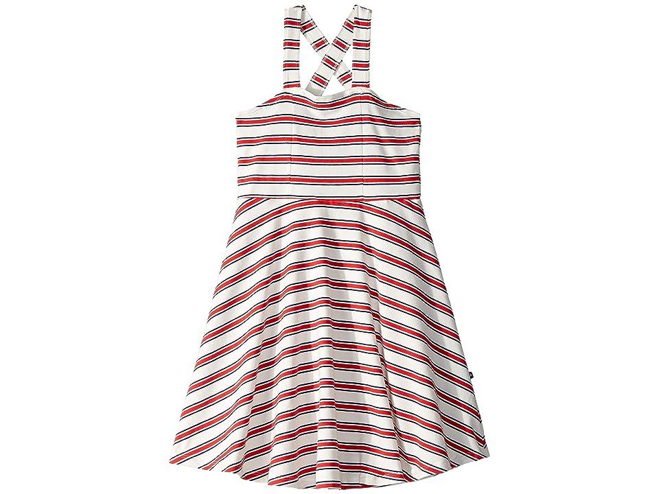 Toobydoo Skater Dress (Toddler/Little Kids/Big Kids) (Blue/Red Striped) Girl