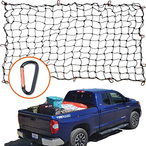 4x6 Super Duty Bungee Cargo Net for Truck Bed Stretches to 8