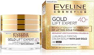 Eveline Cosmetics Gold Lift Expert | 50 ml | Lyxigt uppstramande krämserum med 24 karats guld 40+ | Intensiv regenerering...