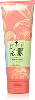 Bath & Body Works Peach & Honey Almond Body Cream 8 Oz.
